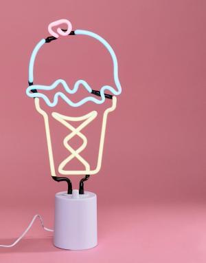Sunnylife Неоновый светильник в виде мороженого. Цвет: мульти