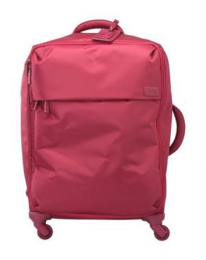Чемодан/сумка на колесиках LIPAULT. Цвет: красно-коричневый