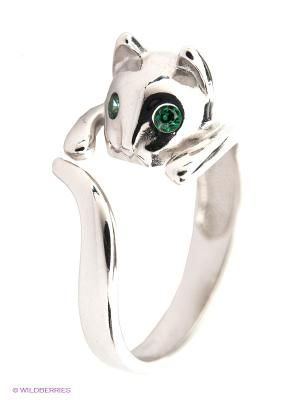 Кольцо SOKOLOV. Цвет: серебристый, зеленый