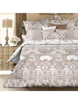 Комплект постельно белья 1,5 биоматин  Луиджи Унисон. Цвет: светло-коричневый, бежевый