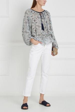 Шелковая блузка Silk Talitha. Цвет: разноцветный