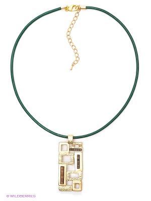 Колье Krikos. Цвет: золотистый, зеленый, коричневый