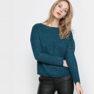 Пуловер теплый с приспущенными проймами La Redoute Collections. Цвет: телесный