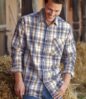 Фланелевая Рубашка Колорадо AFM. Цвет: в-клетку