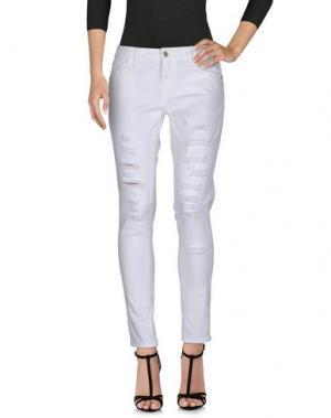 Джинсовые брюки G.SEL. Цвет: белый