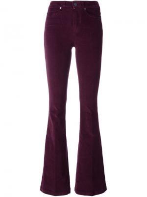 Расклешенные вельветовые брюки Paige. Цвет: розовый и фиолетовый