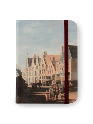 Флорентийская записная книжка. Большая рыночная площадь в Харлеме Власта. Цвет: голубой, розовый, серый