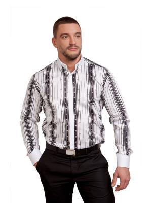Рубашка Sahera Rahmani. Цвет: черный, белый