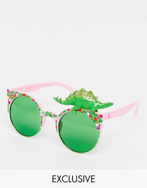 Spangled Солнцезащитные очки с динозавром Super Steggy