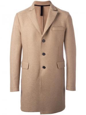 Однобортное пальто Chester Harris Wharf London. Цвет: телесный