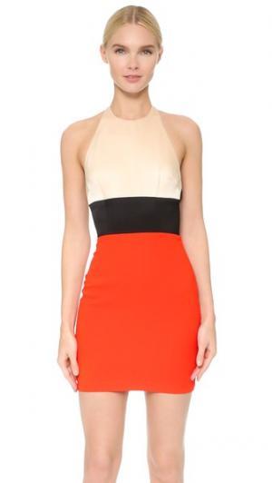 Мини-платье Benton Alex Perry. Цвет: телесный/черный/оранжевый