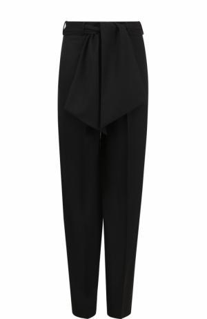 Шерстяные брюки с завышенной талией и поясом Lanvin. Цвет: черный