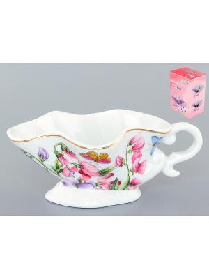 Соусник Душистый цветок Elan Gallery. Цвет: белый, розовый, сиреневый
