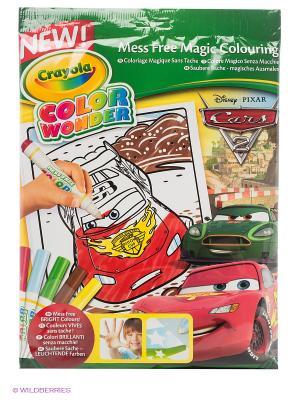 Набор раскраска и фломастеры Тачки Color Wonder Crayola. Цвет: зеленый
