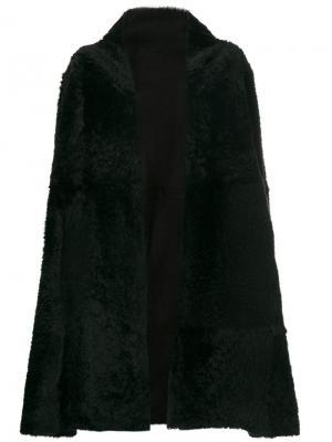 Oversized coat Yves Salomon Accessories. Цвет: чёрный