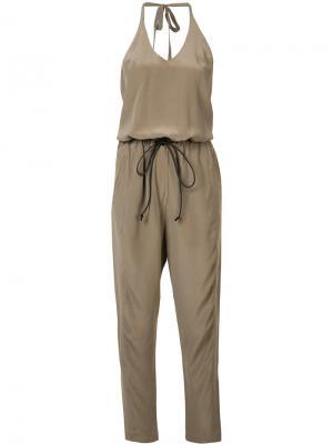 Комбинезон с четырьмя карманами Isabel Benenato. Цвет: коричневый