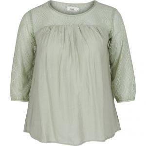 Блузка ZIZZI. Цвет: бледно-зеленый