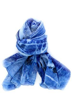 Палантин DE PIETRI. Цвет: голубой