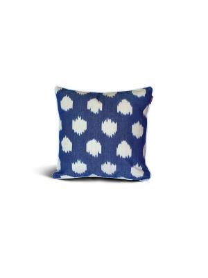 Чехол на подушку декоративный Ikat Square 45*45см RAWEDGE. Цвет: синий