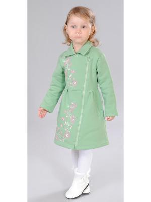 Пальто Милашка Сьюзи. Цвет: зеленый