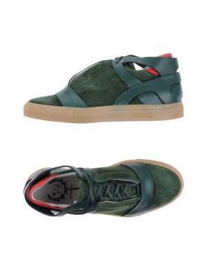 Высокие кеды и кроссовки DEL TORO. Цвет: зеленый