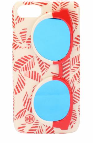 Чехол для iPhone 7 Mirror Sunnies Tory Burch. Цвет: кремовый