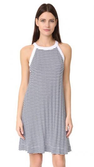 Расклешенное платье без рукавов Three Dots. Цвет: белый