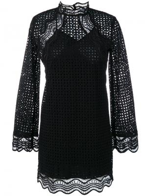 Платье с вышивкой Iro. Цвет: чёрный