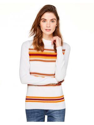 Водолазка United Colors of Benetton. Цвет: белый, оранжевый