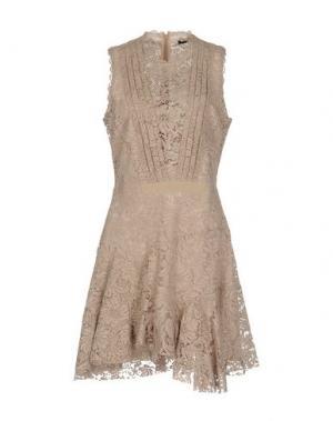 Короткое платье SLY010. Цвет: голубиный серый
