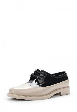 Резиновые ботинки Melissa. Цвет: черно-белый