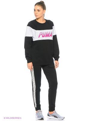 Свитшот Speed Font Crew Puma. Цвет: черный