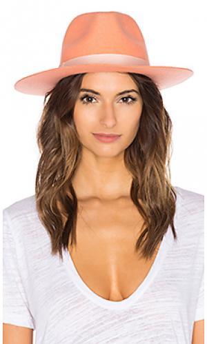 Мягкая шелковая фетровая шляпа sunset palms Lack of Color. Цвет: розовый