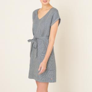 Платье льняное в полоску HARRIS WILSON. Цвет: темно-синий