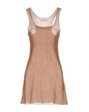 Короткое платье UN-NAMABLE. Цвет: верблюжий