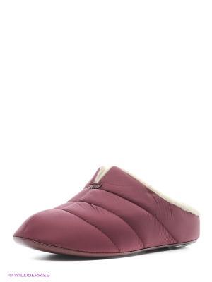 Тапочки Pansy. Цвет: бордовый