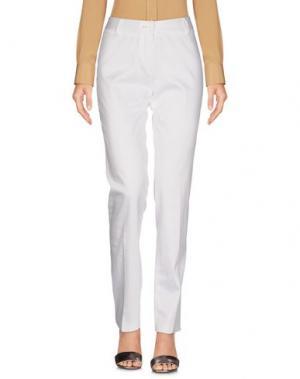 Повседневные брюки KEN BARRELL. Цвет: белый