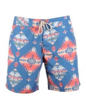 Пляжные брюки и шорты FAHERTY. Цвет: грифельно-синий