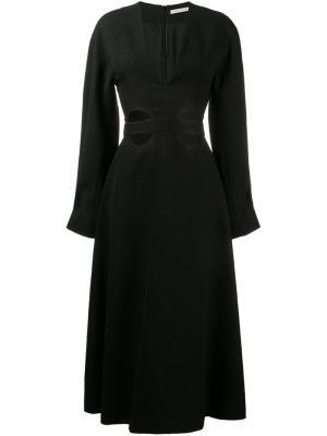 Расклешенное платье с декоративными вырезами Emilia Wickstead. Цвет: чёрный