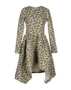 Короткое платье JOURDEN. Цвет: слоновая кость