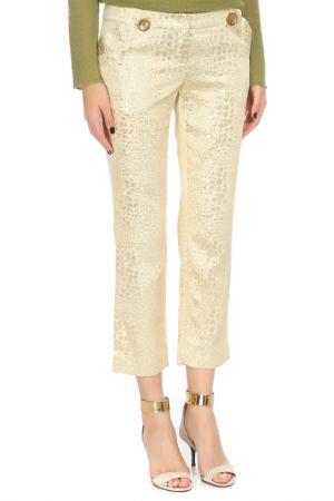 Укороченные брюки с застежкой на молнию John Richmond. Цвет: 0119, золотистый