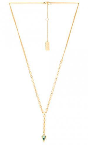 Ожерелье multi circle lariat Melanie Auld. Цвет: металлический золотой