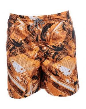 Пляжные брюки и шорты IUTER. Цвет: оранжевый