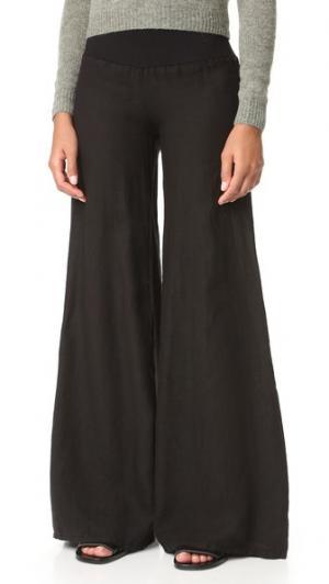 Широкие брюки Enza Costa. Цвет: серый