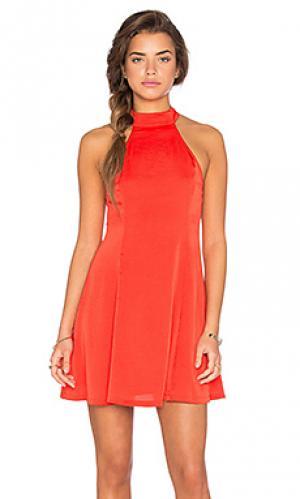 Мини платье fit n flare Lucca Couture. Цвет: красный