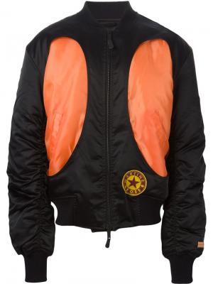 Куртка-бомбер с панельным дизайном Martine Rose. Цвет: чёрный