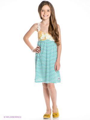 Платье GARCIA. Цвет: бирюзовый, белый