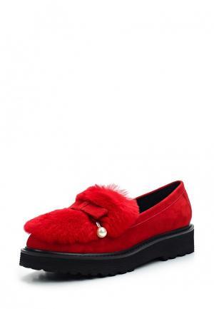 Лоферы Grand Style. Цвет: красный
