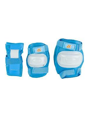 Роликовая защита CK JRPAD СК Спортивная Коллекция. Цвет: голубой