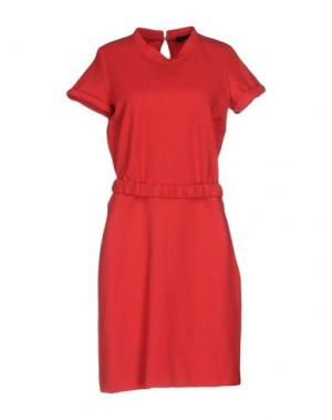 Платье до колена FABRIZIO LENZI. Цвет: красный